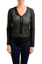 """Maison Martin Margiela """"1""""  Cardigan Sweater With Leather Patches Sz S L"""