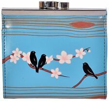 Shagwear Women's Birds and Insects Vegan Leather Clasp Coin Purse