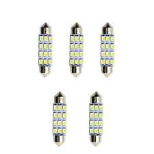 5pcs Car Dome 12 3528-SMD LED Bulb Light Interior Festoon Lamp 40mm White Useful