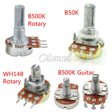 B500K /50K/1K Ohm 3 Pins Knurled Shaft Linear Rotary Taper Potentiometer WH148