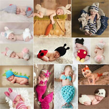 Cute Newborn Infant Baby Crochet Knit Costume Photo Photography Prop Outfits