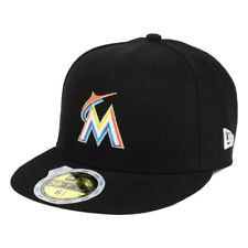New Era 5950 Youth Miami Marlins 2017 HOME Fitted Hat (Black) MLB Kid's Cap