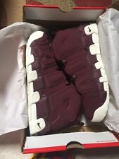 NIKE AIR MORE UPTEMPO SIZE 12 NIGHT MAROON DEADSTOCK