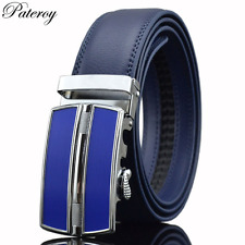 New Geometric Metal Automatic Buckle Genuine Leather Luxury Brand Belt