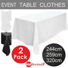 Tablecloths 2 Pack Table Cloth Rectangle Event Wedding Party Black White Trestle