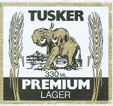 KENYA Kenya Breweries,Nairobi TUSKER Premium L. 330ml elephant beer label C1586