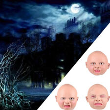 Latex Rubber Human Face Halloween Party Costume Mask Adult Head Horror