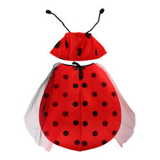 Kids Child Costume Ladybug Cosplay Ladybird Carnival Party Fancy Dress Outfit