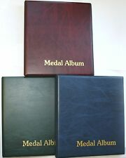 Classic Medal Album With 6x Pages To Fit 36 Medals Spare Pages Available