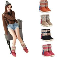 Ankle Women Boot Flat Heel Black Women Shoes Beaded Plush  Winter Snow Xmas Gift