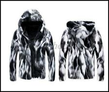 New Fashion Mens Hooded Thicken Coat Winter Warm Faux Fur Outerwear Jacket Parka