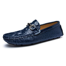 Size 39-45 Men's Alligator Shoes Patent Leather Crocodile Style Driving Loafers