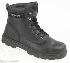 Toesavers 1900 S3 SRC High Cut Black Leather Steel Toe Cap Safety Work Boots PPE