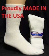 WHITE DIABETIC SOCKS CREW SOCKS PHYSICIANS CHOICE, SIZE 13-15  -- 3 to 9 Pair