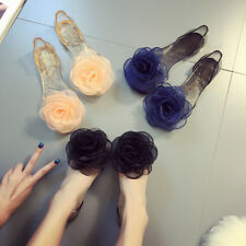 1 Pair Bow sandals crystal shoes Sweet Flowers Lady Jelly Shoes