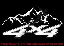 4X4 MOUNTAIN PIN STRIPE VINYL DECALS FITS:CHEVY GMC DODGE FORD NISSAN TOYOTA