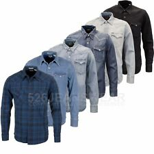 Levi's Mens Designer Branded Classic Barstow Western Denim Shirts, BNWT