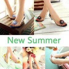 Women's Sandals Wedge High Heels Fish Head Sandals Casual Shoes Lady's Sandals