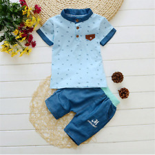 New Kids Baby Clothes Shirt Pants/Tops Set Outfit Toddler 2pcs For Boys