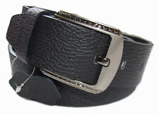 MENS LEATHER BELTS FOR Men. Genuine Cowhide 100% Real PURE Leather. CLASSIC PIN