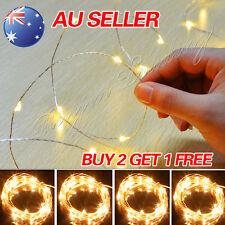 2-10M WARM LED MICRO WIRE STRING FAIRY PARTY XMAS WEDDING CHRISTMAS METAL LIGHTS