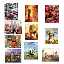 Frameless Pictures Painting By Numbers Handwork Canvas Oil Painting Decor