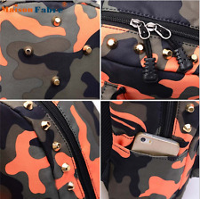 New Maison Fabre High quality Children School Bag Rivets Camouflage Backpack