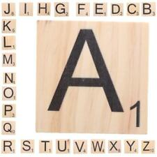 9cm Natural Wood Puzzle Individual Tile Letter Number For Alphabet Game A - Z