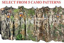 Men's Long Sleeve Button Up Front Wicking Hunting Shirt 5 Camo Options