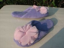 NEW AVON LADIES CHIFFON FLOWER LILAC & PINK SLIPPERS~~ YOU CHOOSE SIZE~~
