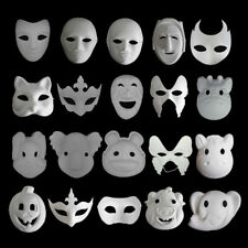 Unpainted Plain Blank Animal Version Paper Pulp Face Mask Masque Party Halloween