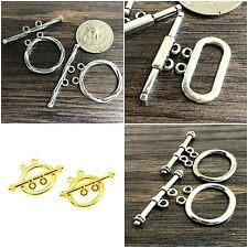 Double Strands Pewter Toggle Clasps DIY Jewelry Gold/ Silver/ Copper Pick color