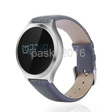 M7S Heart Rate Monitor Blood Pressure Waterproof Leather Strap Smart Watch