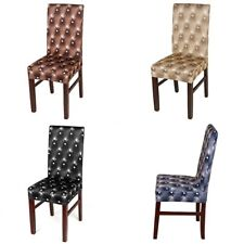 Removable Chair Covers Protector Stretch Slipcovers Short Dining Room Stool New