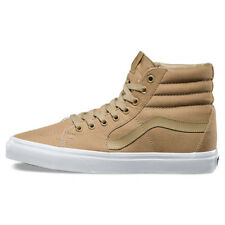 "Vans ""Sk8-Hi Mono Canvas"" Sneakers (Khaki/True White) Men's Skate High-Top Shoes"