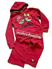 Angry Birds Pink Winter Hoodie Tracksuit Girls Set