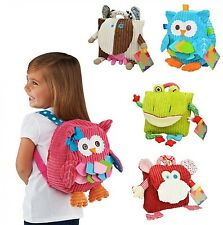 School Plush Backpack Cute Cartoon Kids Children Picnic Lunch Bag 5 Styles Soft