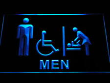 i1030-b Men Baby Changing Room with Disabled Accessible Toilet Neon Sign