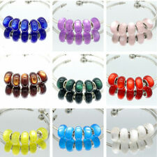 10pcs silver MURANO Cat's eye European Charm beads fit Necklace Bracelet DIY