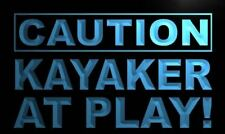 m590-b Caution Kayaker at Play Neon Light Sign