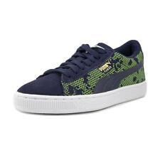 Puma 362053 02 Youth  Round Toe Suede Blue Sneakers NWOB