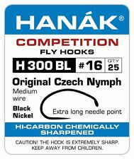 Hanak Competition Barbless Fly Fishing Hooks H 310 BL 25pk