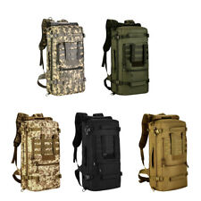 50L Molle Backpack Outdoor Military Tactical Rucksack Camping Hiking Hunting Bag