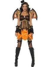Ladies Halloween Fancy Dress Costume Steam Punk Victorian Bat