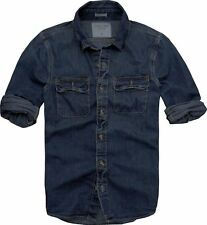 New Men's Abercrombie & Fitch Muscle Fit Denim Medium shirt bidding for £18.99