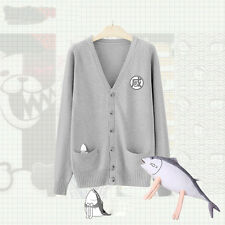 Japan JK Uniform Sweater Cardigan V-Neck Knit Kawaii Sailor Suit Fish Embroider
