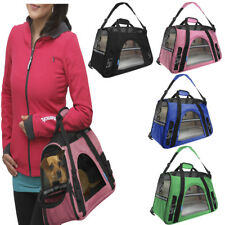 Pet Carrier Soft Sided Cat  Dog Comfort Airline Approved Breathable Travel Bag