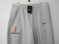 NEW Nike University of Illinois Marching Illini Band XL L Sweatpants Pants Mens