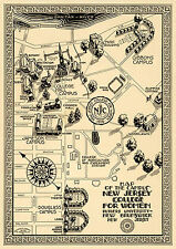Historical Map of New Jersey College for Women Rutgers University Campus Poster