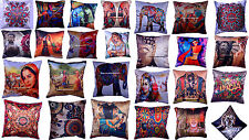 Indian Handmade Cotton Silk 16 X 16 Cushion Cover Ethnic Pillow Case Home Decor